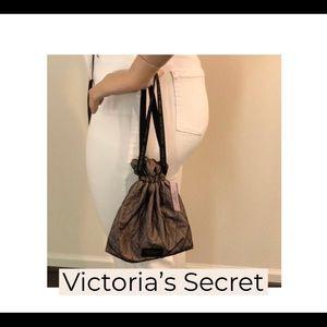 NWT Victoria's Secret Brown Wrist Tote